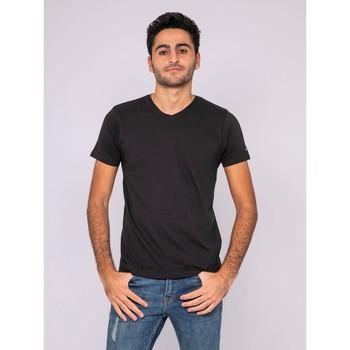 Vêtements T-shirts manches courtes Ritchie T-shirt col V pur coton organique WETHERBY Noir