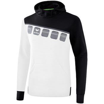 Vêtements Homme Sweats Erima Sweat à capuche  5-C blanc/noir/gris