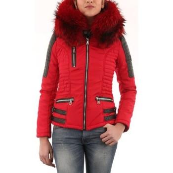 Vêtements Femme Doudounes Horspist Nounou Rouge Col Rouge Rouge et Noir