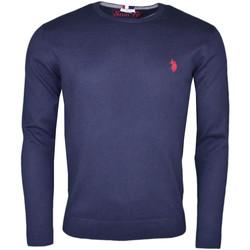 Vêtements Homme Pulls U.S Polo Assn. Pull col rond U.S Polo bleu marine logo rouge pour homme Bleu