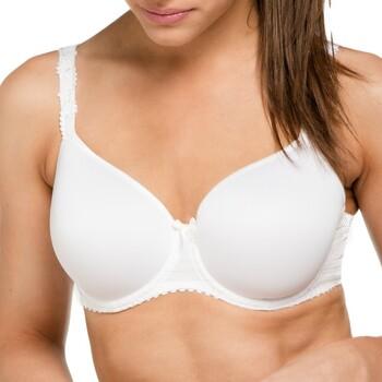 Sous-vêtements Femme Corbeilles & balconnets Louisa Bracq Soutien-gorge bonnet lisse Elise Blanc Blanc