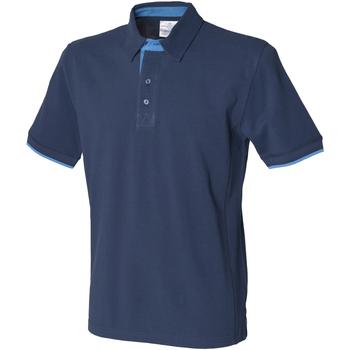 Vêtements Homme Polos manches courtes Front Row Contrast Bleu marine/Marine