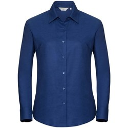 Vêtements Femme Chemises / Chemisiers Russell Collection Chemisier à manches longues BC1022 Bleu roi