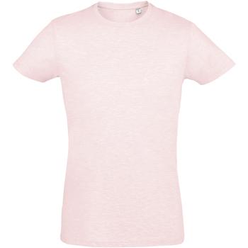 Vêtements Homme T-shirts manches courtes Sols Slim Fit Rose chiné