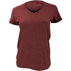 Vêtements Femme T-shirts manches courtes Anvil Basic Rouge foncé