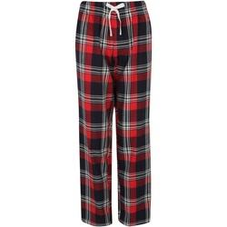 Vêtements Femme Pyjamas / Chemises de nuit Skinni Fit Tartan rouge/bleu marine