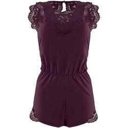 Vêtements Femme Combinaisons / Salopettes Pommpoire Combishort figue Ecaille Violet