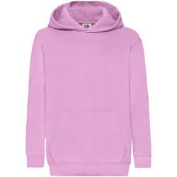 Vêtements Enfant Sweats Fruit Of The Loom 62043 Rose clair
