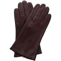 Accessoires textile Femme Gants Glove Story Gants cuir  ref_23653 605 Bordeaux Rouge