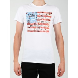 Vêtements Homme T-shirts manches courtes Wrangler S/S Modern Flag Tee W7A45FK12 biały