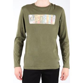 Vêtements Homme T-shirts manches longues Lee L848AI oliwkowozielony