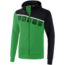 Vêtements Enfant Vestes de survêtement Erima Veste d'entrainement à capuche junior vert/noir/blanc