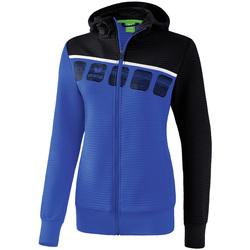 Vêtements Femme Vestes de survêtement Erima Veste d'entrainement à capuche femme bleu/noir/blanc