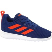 Chaussures Enfant Baskets basses adidas Originals Lite Racer Cln I Orange,Bleu marine