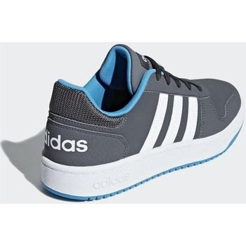 Chaussures Enfant Baskets basses adidas Originals Hoops 20 K Gris, Graphite