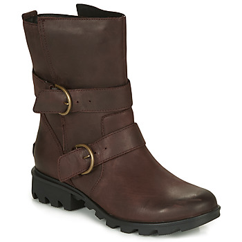 Chaussures Femme Bottes de neige Sorel PHOENIX MOTO Marron