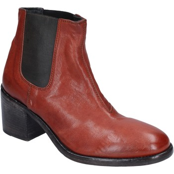 Chaussures Femme Bottines Moma bottines cuir marron
