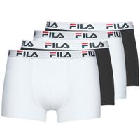 Sous-vêtements Homme Boxers Fila Pack de 4 Noir / Blanc