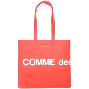 Sacs Femme Cabas / Sacs shopping Comme Des Garcons Shopper  Huge Logo en cuir rouge Rouge