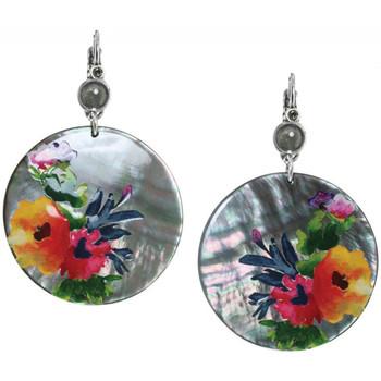 Montres & Bijoux Femme Boucles d'oreilles Franck Herval Boucles d'oreilles  collection 'Floral' 12--61728 594