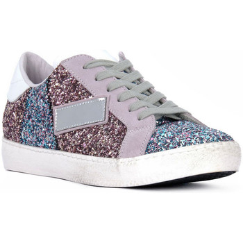 Chaussures Femme Baskets basses At Go GO GLITTER NEWBIG Bianco