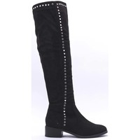 Chaussures Femme Cuissardes Cendriyon Bottes Noir Chaussures Femme Noir