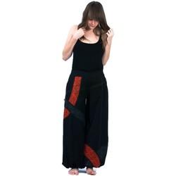 Vêtements Femme Pantalons fluides / Sarouels Fantazia Pantalon sarouel happy style Noir