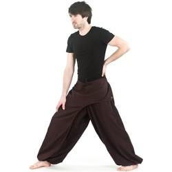 Vêtements Pantalons Fantazia Pantalon ethnik chic cache-tresors Marron