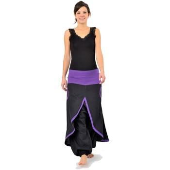 Vêtements Femme Pantalons fluides / Sarouels Fantazia Sarouel jupe epais Phinou Noir et gris