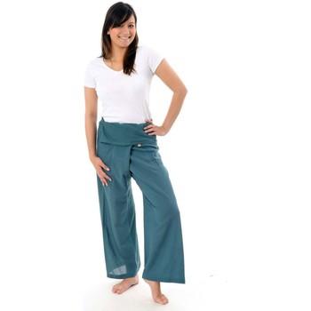 Vêtements Pantalons fluides / Sarouels Fantazia Pantalon Thai gris bleu Gris-Bleu