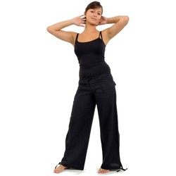 Vêtements Femme Pantalons Fantazia Pantalon hybride homme femme noir uni Noir