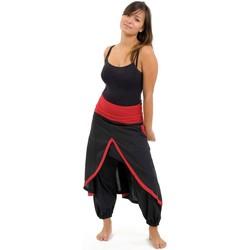 Vêtements Femme Pantalons fluides / Sarouels Fantazia Sarouel femme epais Nyima Noir
