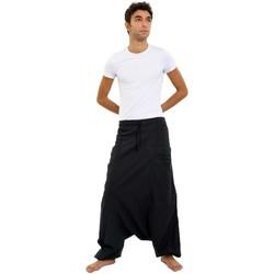 Vêtements Homme Pantalons fluides / Sarouels Fantazia Sarouel noir Mikos Noir
