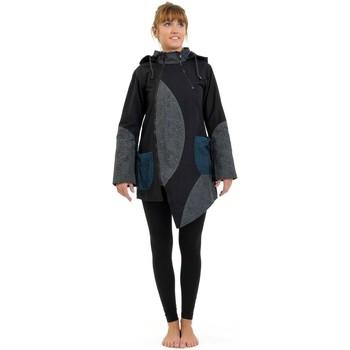 Vêtements Femme Manteaux Fantazia Blouson ethnique Puzzla psychedelic capuche de lutin Noir