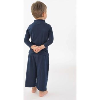 Vêtements Fille T-shirts manches courtes Fantazia T shirt polo coton bio col mao manches longues enfant Bleu