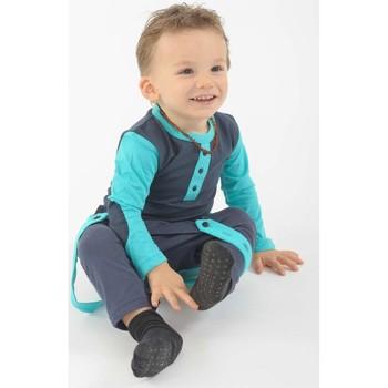 Vêtements Fille T-shirts manches courtes Fantazia T shirt enfant coton bio coudieres manches longues Bleu
