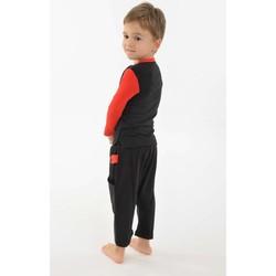 Vêtements Fille T-shirts manches courtes Fantazia T shirt enfant coton bio manches longues Noir et rouge Noir