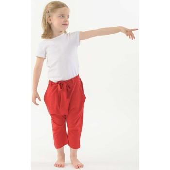 Vêtements Fille Pantalons fluides / Sarouels Fantazia Pantalon sarouel enfant pur coton bio Rouge Rouge