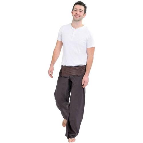 Vêtements Homme Pantalons Fantazia Pantalon Fisherman Thai marron Marron