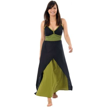 Vêtements Femme Robes Fantazia Robe longue ethnic chic Dhanya Noir