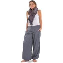 Vêtements Pantalons fluides / Sarouels Fantazia Pantalon bouffant mixte Kerman gris bleu Gris