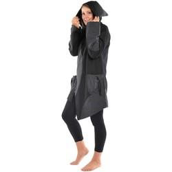 Vêtements Femme Manteaux Fantazia Manteau ethnique noir gris grand froid Dayang Noir