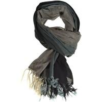 Accessoires textile Homme Echarpes / Etoles / Foulards Fantazia Cheche foulard coton basic ethnic noir gris chine Noir