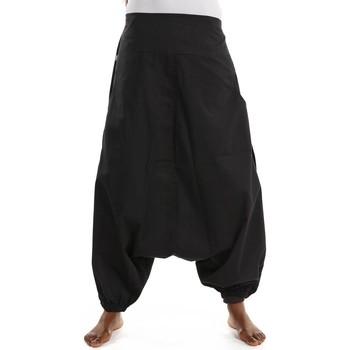 Vêtements Femme Pantalons fluides / Sarouels Fantazia Sarouel femme homme printemps ete basic ethnic noir Noir