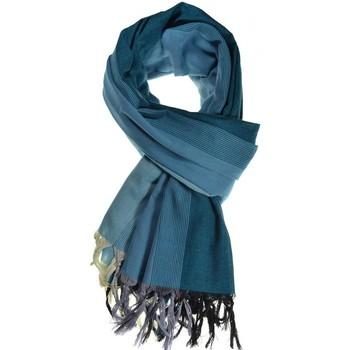 Accessoires textile Echarpes / Etoles / Foulards Fantazia Cheche foulard coton basic ethnic degrade bleu Bleu