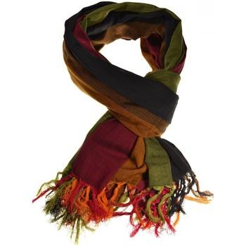 Accessoires textile Echarpes / Etoles / Foulards Fantazia Cheche keffieh coton basic ethnic noir vert jaune rouge Noir