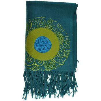 Accessoires textile Echarpes / Etoles / Foulards Fantazia Cheche foulard coton multi patch ethnic print bleu vert Bleu