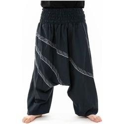 Vêtements Homme Pantalons fluides / Sarouels Fantazia Sarouel grande taille large ceinture elastique Andaman Noir