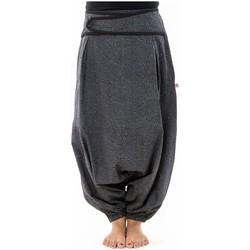 Vêtements Femme Pantalons fluides / Sarouels Fantazia Sarouel femme hiver gris souris imprime psychedelic noir Noir