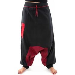 Vêtements Pantalons fluides / Sarouels Fantazia Sarouel aladin ethnic psychedelic noir rouge hiver Noir